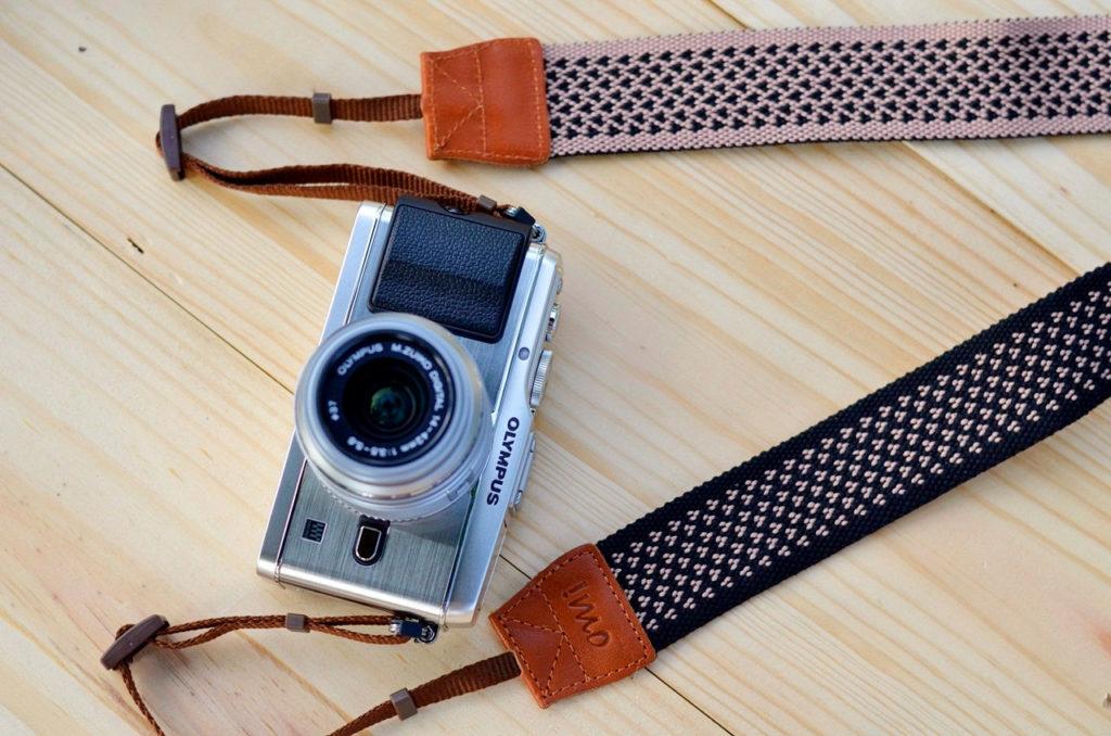 !mo imo pink hearts camera strap