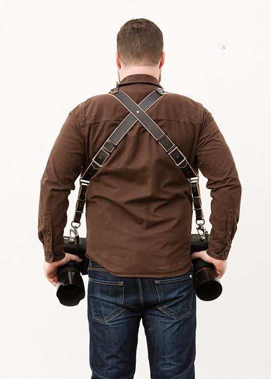 back of an original holdfast gear moneymaker black bridle leather